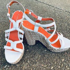 Vía Spiga White Platform Sandals